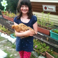Alex and the new chickens
