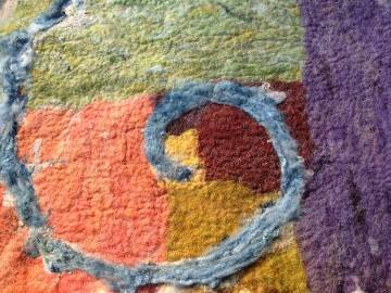 Felting weekend course, Wild Rose Escapes, Highlands, Scotland