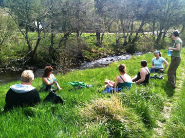 Relaxing by the river -The craft retreat, Wild Rose Escapes, Highlands, Scotland