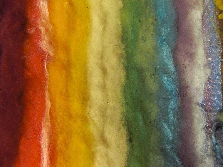 Naturally dyed fleece
