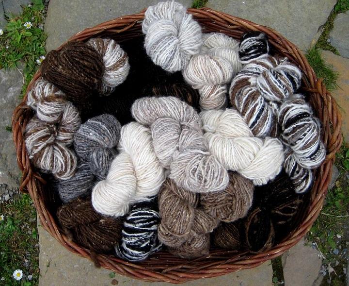 Natural spun wool - Wild Rose Escapes, craft retreat, Highlands, Scotland
