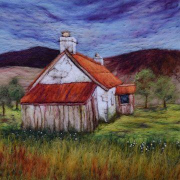 Karen's needle felted house
